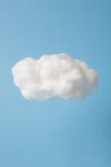 Keuken foto achterwand Hemel cloud made out of cotton wool on sky blue background