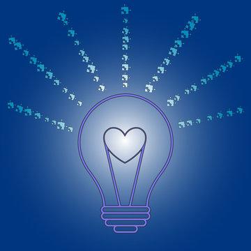 Light it up blue illustration. Vector image.