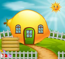 lemon house in garden