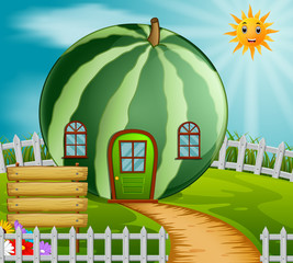 watermelon house in garden