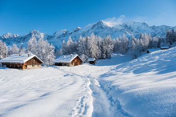 Mont Blanc winter