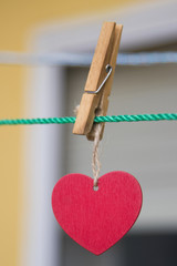heart card hung from the claw, valentine's day