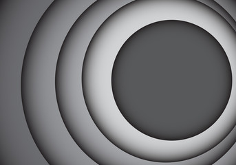 Abstract gray tone circle overlap curve design modern futuristic background vector illustration.