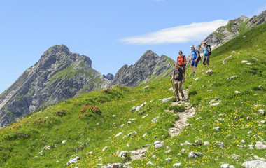 Bergwanderer in den Allgäuer Alpen