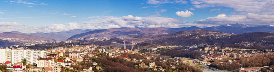 Caucasian mountains in the city of Sochi