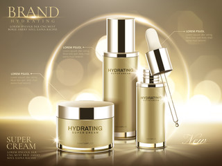 Hydrating cosmetic product ads
