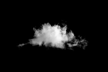 White cloud on black background