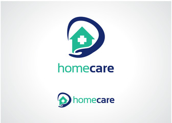 Home Care Logo Template Design Vector, Emblem, Design Concept, Creative Symbol, Icon