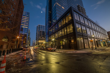 Fotobehang - Evening view of the  streets of Boston. USA.  Massachusetts