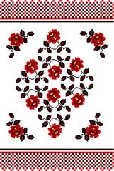 """Stylizowany etniczny ornament """"ukraiński haft"""" - 189592853"""