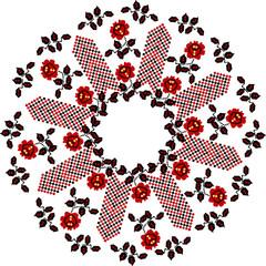 """Stylizowany etniczny ornament """"ukraiński haft"""" - 189592855"""
