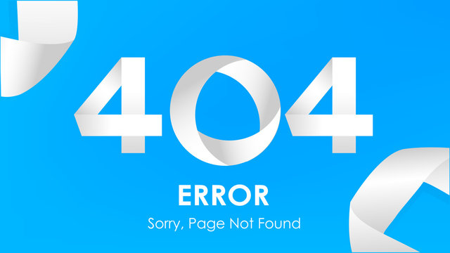 404  ribbon error page not found  vector graphic background