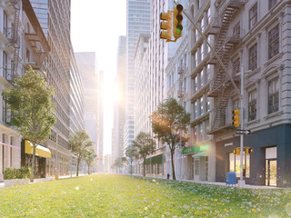 ecologically big city life. 3d rendering