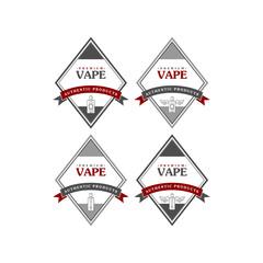electric cigarette personal vaporizer e-cigarette retro label badge