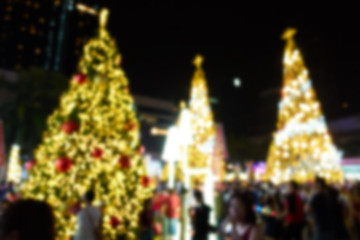 Blurred photo of Colorful Christmas Tree Bokeh background