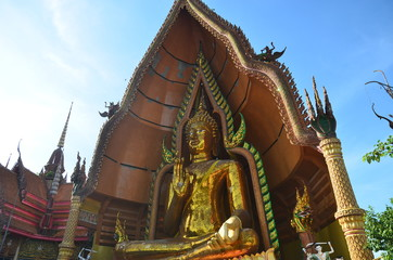 Buddha statue Wat Tham Sua Kanchanaburi Thailand