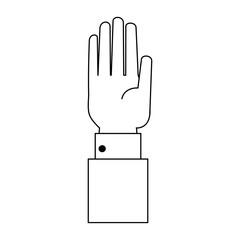 Hand open symbol icon vector illustration graphic design