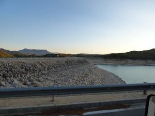 Pantano de Ardales en la provincia de Málaga, en la comunidad autónoma de Andalucía, España