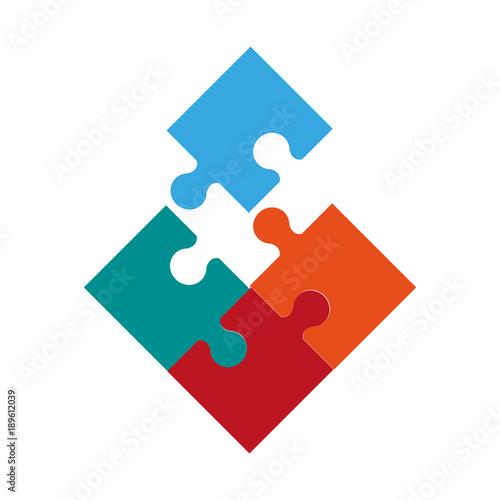 Jigsaw puzzle symbol icon vector illustration graphic design
