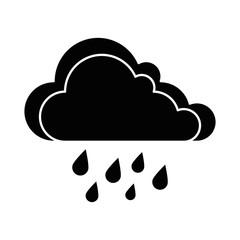 weather cloud rainy icon