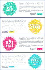 Set of Hot Sale Best Price Advertising Banners