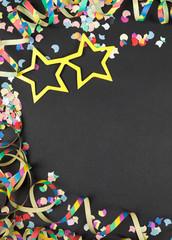 confetti streamer background for carnival
