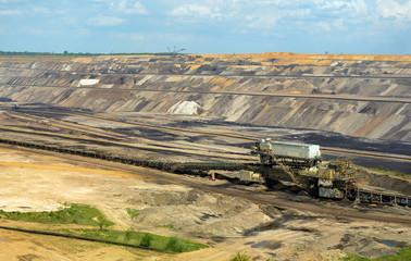 Big open-pit mine in North Rhine Westphalia