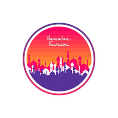ramadan kareem eid mubarak celebration label tag badge