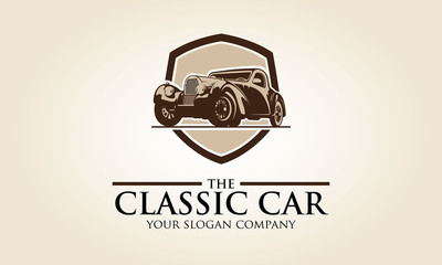 Logo template with the image of the classic car for your company.