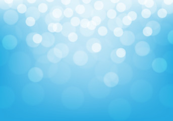 Abstract white bokeh light on blue luxury background vector illustration.