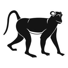 Monkey icon, simple style