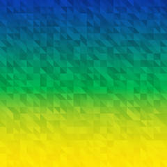 Abstract Background using Brazil flag colors. Vector illustration.