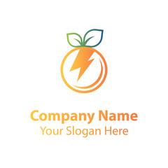 Power fruit logo design