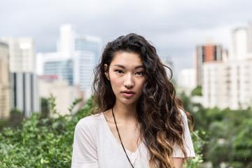 Portrait of a Beautiful Asian Girl