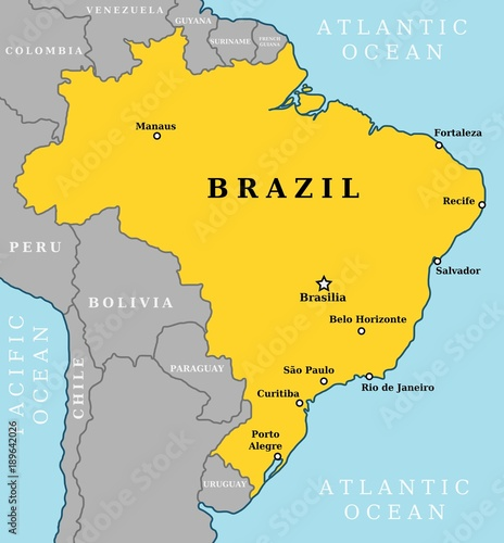 Brazil map vector Stock image and royaltyfree vector files on