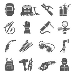Black Icons - Welding Equipment
