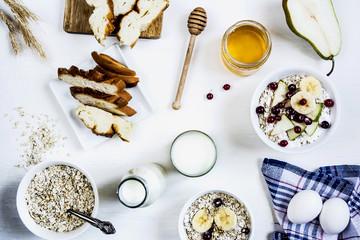 healthy breakfast of oatmeal