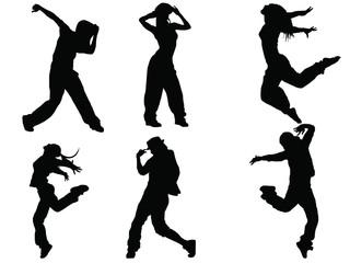 Female dance silhouette