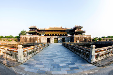 Imperial Palace moat,Emperor palace complex, Hue Province. Vietnam