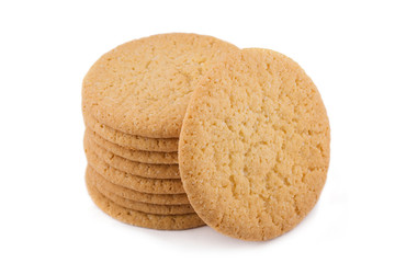 Papiers peints Biscuit oatmeal cookies isolated on white background