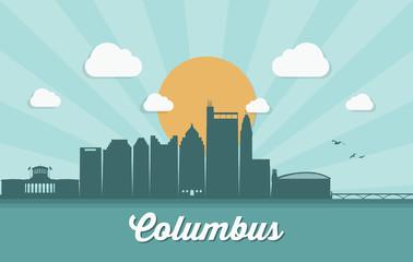 Fototapete - Columbus skyline