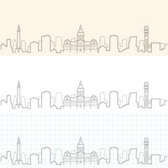 Baltimore Hand Drawn Skyline