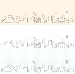 Cleveland Hand Drawn Skyline