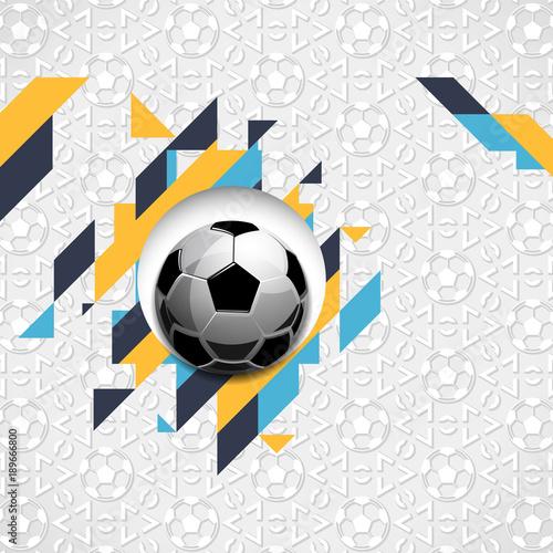 Football Soccer Ball Abstract Strips Pattern Sport Vector Illustration Background