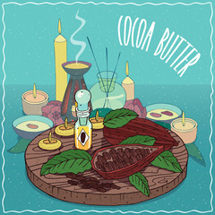Cocoa butter oil used for aromatherapy