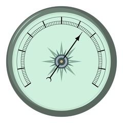Atmosphere barometer icon, cartoon style