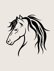 Horse Face, art vector design