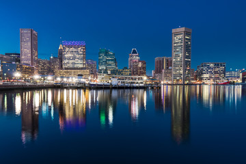 Baltimore Night Skyline