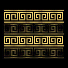 Greek style ornamental decorative frame pattern isolated. Greek Ornament. Vector antique frame pack. Ethnic collections.