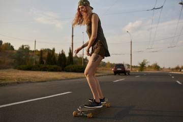 Cool urban skater teen girl